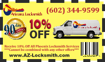 locksmith coupon, 10% Coupon, Phoenix Locksmith - Emergency Locksmith Services